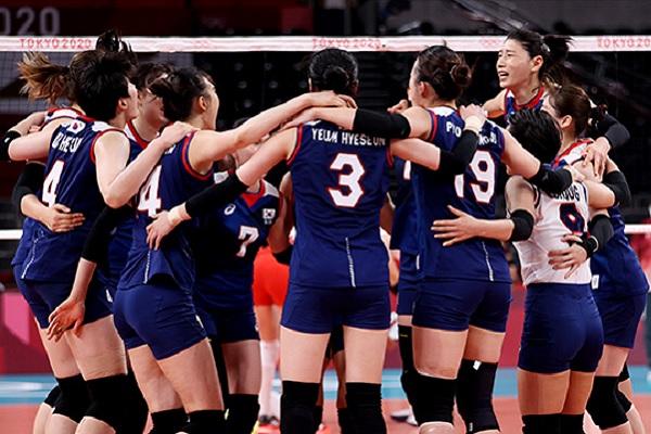 Южнокорейские волейболистки сразятся в полуфинале с командой Бразилии