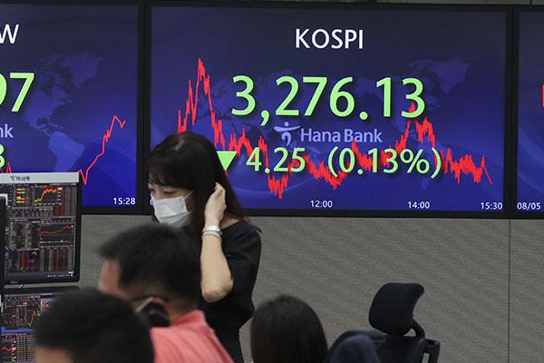 8月5日主要外汇牌价和韩国综合股价指数