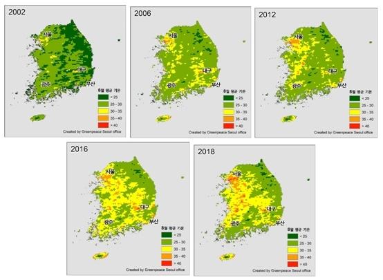 Diện tích lãnh thổ Hàn Quốc nằm trong khu vực nhiệt độ cao tăng gấp đôi trong vòng 9 năm