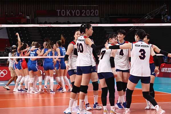 韩女排负于塞尔维亚仅获第四 无缘奖牌