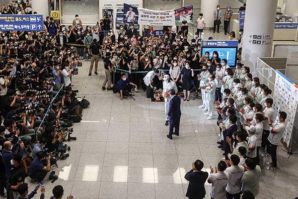 Los deportistas olímpicos regresan de Tokio