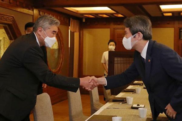 Bộ trưởng Thống nhất họp với Đặc phái viên chính sách Bắc Triều Tiên của Mỹ