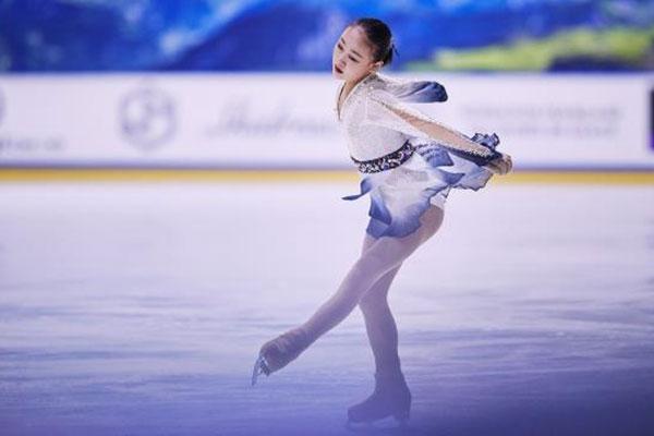 Eiskunstläuferin Kim Chae-yeon gewinnt Silber beim ISU Junior Grand Prix