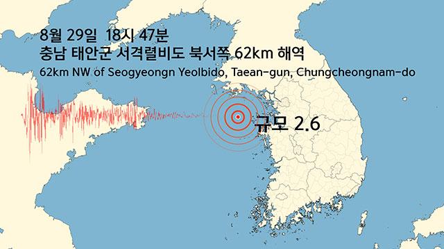 У западного побережья РК произошло землетрясение магнитудой 2,6