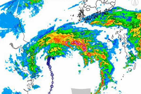 Тайфун «Чанту» принёс сильные дожди на остров Чечжудо
