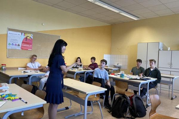 Một trường trung học phổ thông Đức chọn tiếng Hàn là môn học chính quy