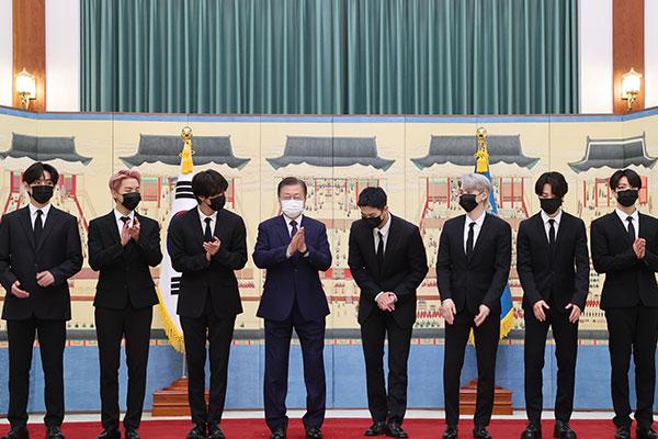 BTS devient « émissaire spécial présidentiel pour les générations futures et la culture »