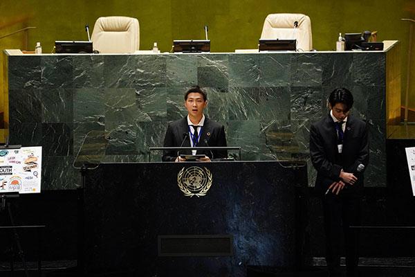 BTS Berpidato dan Putarkan Video Penampilan Mereka di Acara PBB
