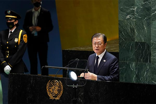 「終戦宣言」を提案 文大統領が国連で演説