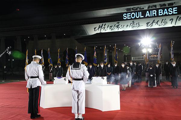 68 hài cốt liệt sĩ Hàn Quốc trong chiến tranh Triều Tiên được đưa từ Mỹ về nước