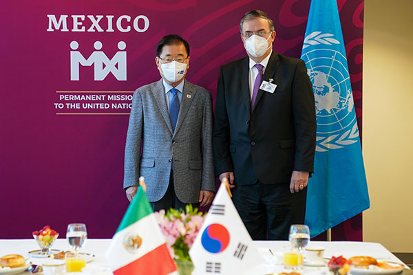 Foreign Ministers of S. Korea, Mexico Hold Talks in New York
