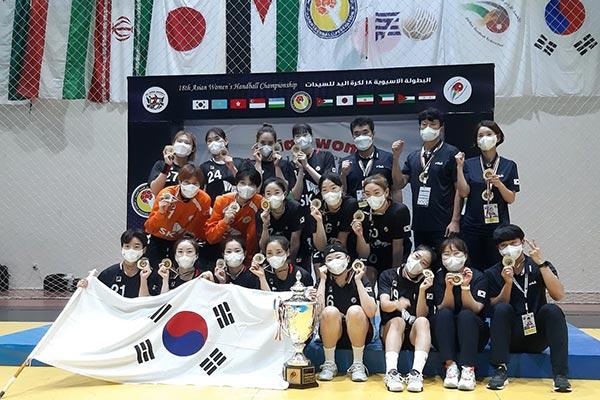 女子ハンドボールのアジア選手権 韓国、日本下し5連覇