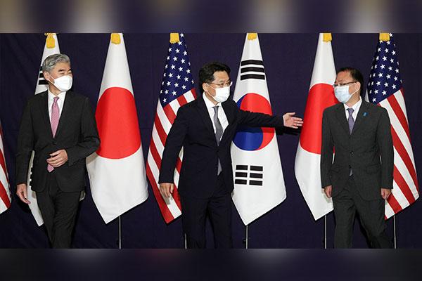 Atomunterhändler Südkoreas, Japans und der USA führen Telefongespräch