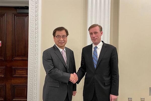 韩美国安首长敦促北韩积极进行对话