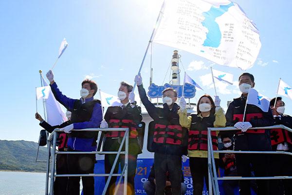 Coopération intercoréenne : première navigation d'essai dans l'estuaire du fleuve Han