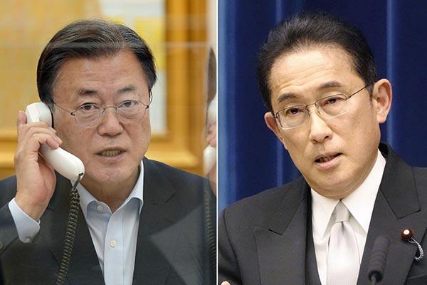 Moon, Kishida Discuss Wartime Issues in Phone Talks