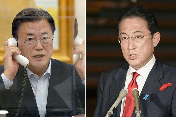 文大統領と岸田首相が電話会談 歴史問題では溝が浮き彫りに