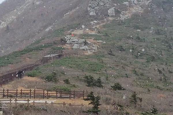 Primera nieve en el monte Seorak