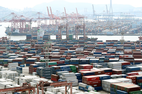 10月前20天韩出口额增36.1% 日均出口额增25.7%