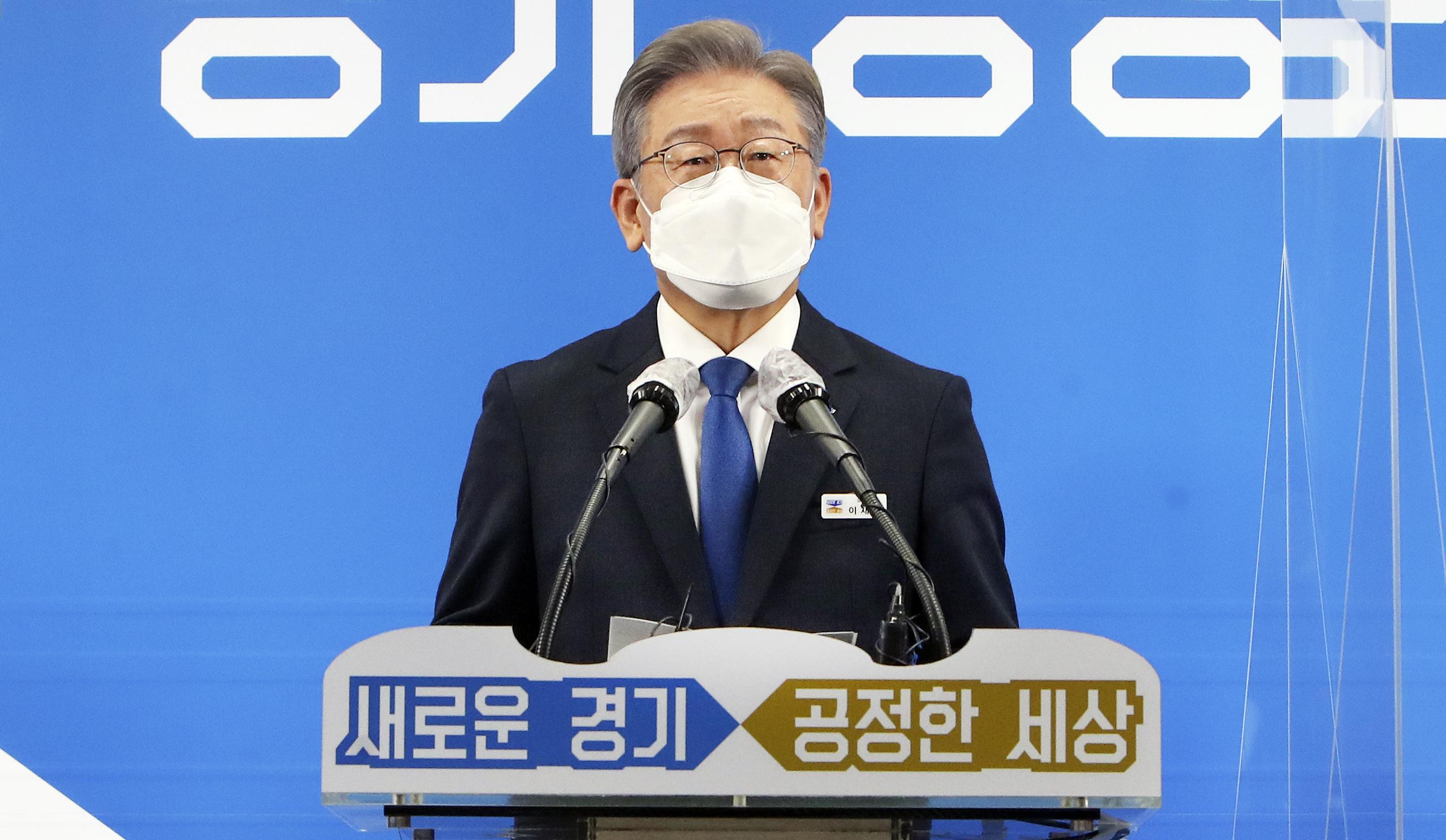 与党公認候補の李在明氏 大統領選挙向けて京畿道知事辞任