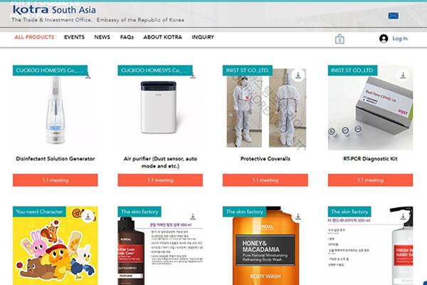 Un salon d'exposition de produits sud-coréens inauguré en ligne en Asie du Sud