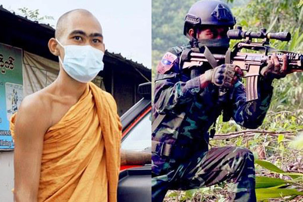 Un moine birman a pris les armes contre la junte militaire