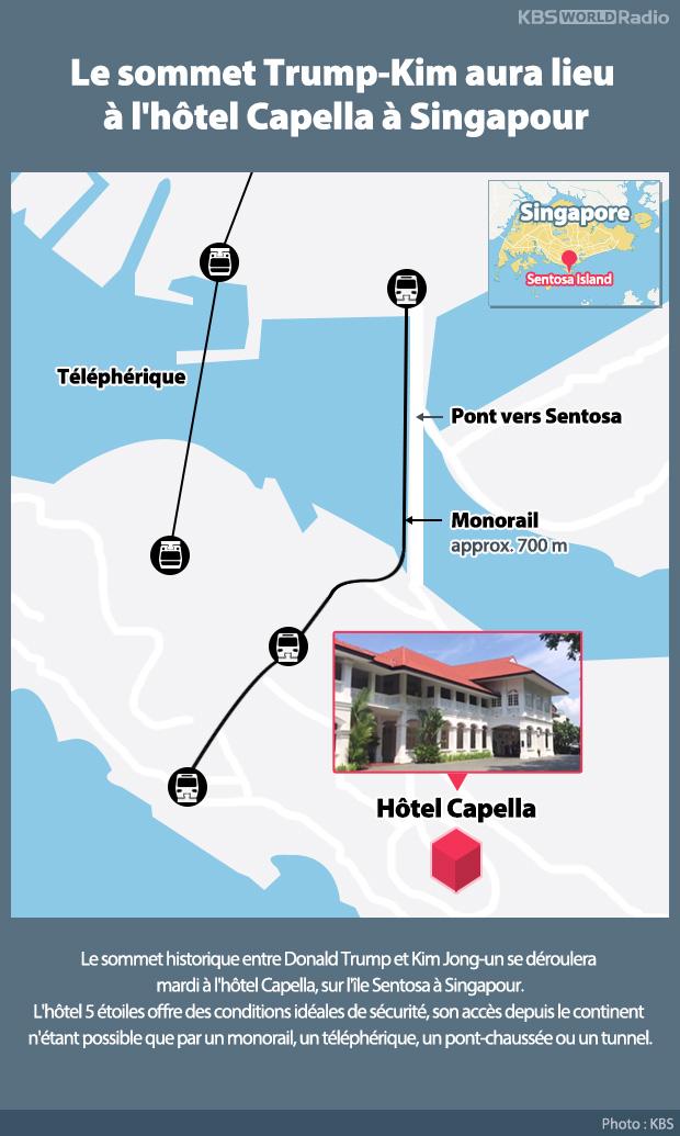 Le sommet Trump-Kim aura lieu à l'hôtel Capella à Singapour