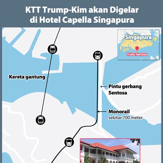 KTT Trump-Kim akan Digelar di Hotel Capella Singapura