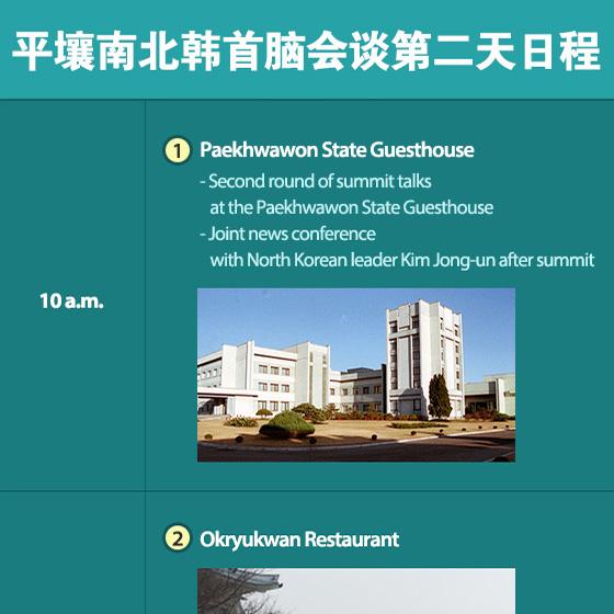 平壤南北韩首脑会谈第二天日程