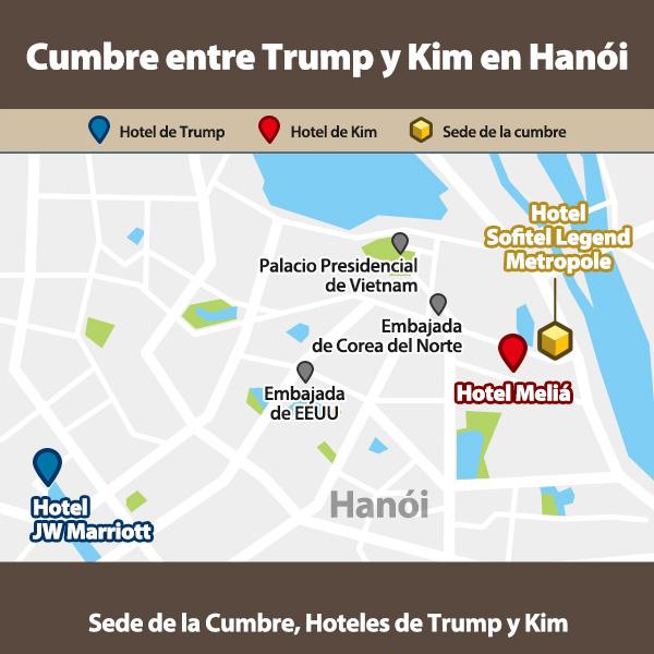 Cumbre entre Trump y Kim en Hanói