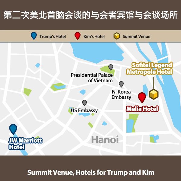 第二次美北首脑会谈的与会者宾馆与会谈场所