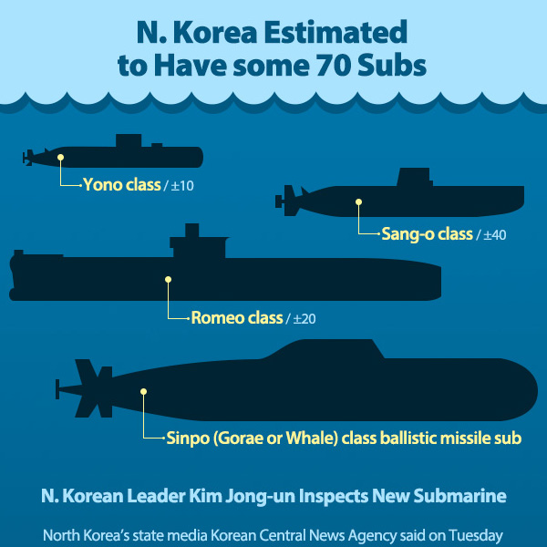 N. Korea Estimated to Have some 70 Subs