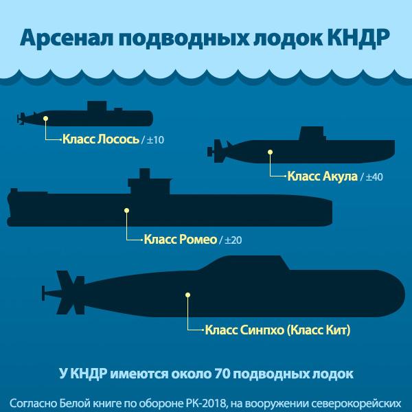 Арсенал подводных лодок КНДР