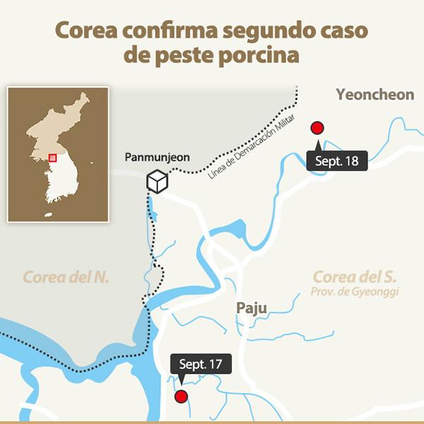Corea confirma segundo caso de peste porcina