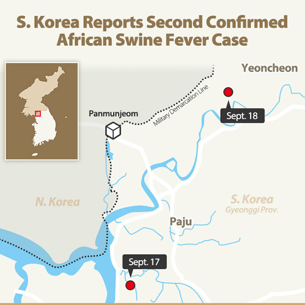 S. Korea Reports Second Confirmed African Swine Fever Case