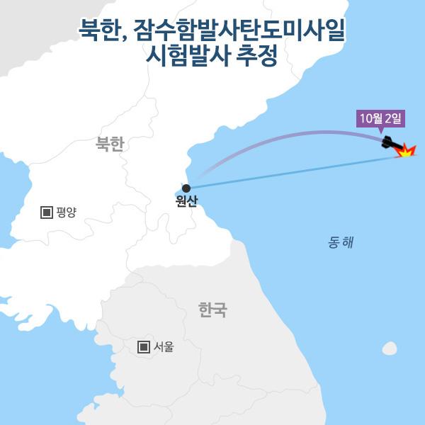 북한, 잠수함발사탄도미사일 시험발사 추정