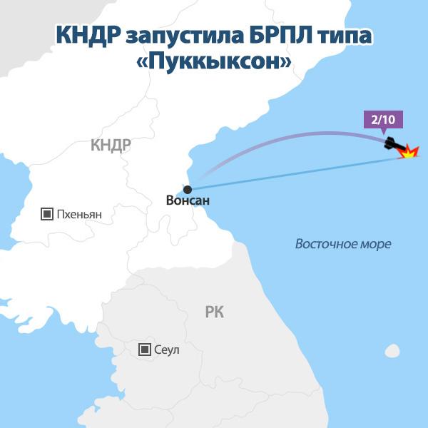 КНДР запустила БРПЛ типа «Пуккыксон»