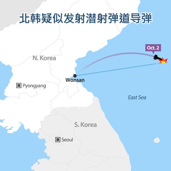 北韩疑似发射潜射弹道导弹
