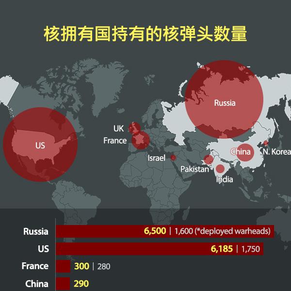 核拥有国持有的核弹头数量