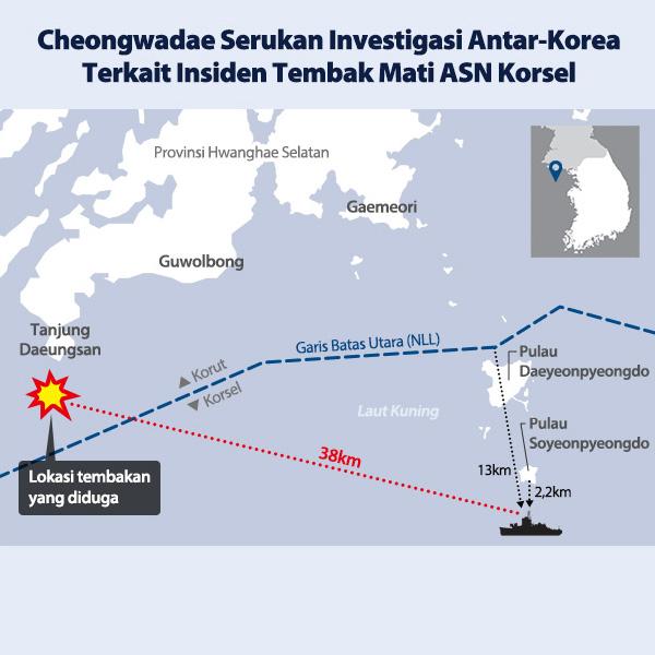 Cheongwadae Serukan Investigasi Antar-Korea Terkait Insiden Tembak Mati ASN Korsel