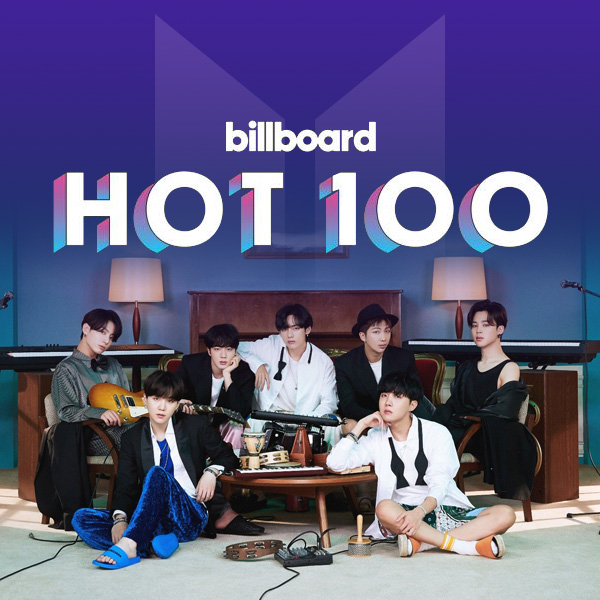 "Рейтинг BTS в рамках чарта Billboard ""HOT100"""