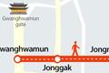 世宗大道十字路口至兴仁之门区间将被指定为周末步行街