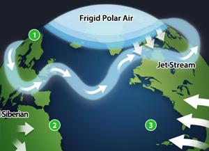 """最强烈的寒流原因?-""""地球变暖的悖论"""""""