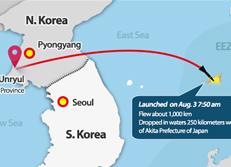 N. Korean Nodong Missile Dropped on Japanese EEZ