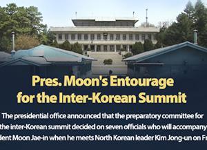 Pres. Moon's Entourage for the Inter-Korean Summit