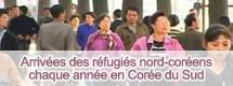 Arrivées des réfugiés nord-coréens chaque année en Corée du Sud