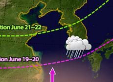 La saison des moussons débute le 19 juin en Corée du Sud