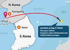 Un missile Rodong nord-coréen s'abîme dans la ZEE japonaise