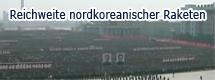 Reichweite nordkoreanischer Raketen