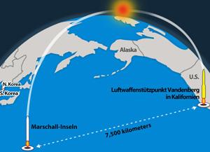 USA mit Test-Abschuss von ICBM erfolgreich